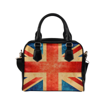 InterestPrint Vintage Union Jack PU Leather Aslant Shoulder Handbag Purse