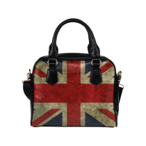 InterestPrint Vintage Union Jack PU Leather Aslant Shoulder Handbag Bag Purse