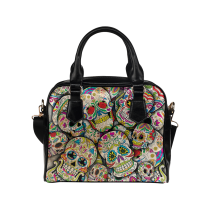 InterestPrint  Hipster Sugar Skull PU Leather Shoulder Handbag Bag Purse