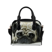 InterestPrint Pug Puppy Dog Women's And Girl's PU Leather Shoulder Handbag Purse