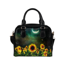 InterestPrint Sunflower Flower Women's And Girl's PU Leather Shoulder Bag Handbag Purse