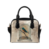 InterestPrint Retro Bird Women's And Girl's PU Leather Aslant Shoulder  Bag Handbag