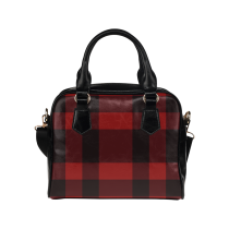 InterestPrint Red Plaid Geometric Women's And Girl's PU Leather Aslant Shoulder Tote Handbag Purse