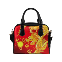 InterestPrint Chinese Dragon Women's PU Leather Aslant Shoulder Bag Purse