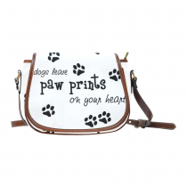 InterestPrint Dog Paw Animal Print Saddle Crossbody Messenger Shoulder Purse