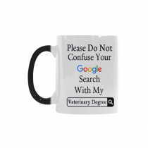 InterestPrint Please Do Not Confuse Your Google Search With My Veterinary Law Medical Degree Quotes 11oz Color Changing Heat Sensitive Morphing Coffee Mug Cup Travel - Funny Birthday Gift for Friends