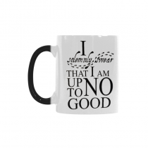 InterestPrint Custom I Solemnly Swear That I Am Up To No Good Harry Potter Funny Words Ceramic Magic Color Changing Morning Coffee Tea Drinking Mug -Heat Sensitive (11 oz)