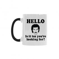 InterestPrint Hello Is It Tea Me You're Youare Your Looking for Quotes 11oz Color Changing Heat Sensitive Morphing Coffee Mug Tea Cup Travel, Unique Birthday Gift for Men Mom Boy Girl Friends Him Her