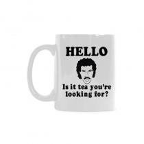InterestPrint Hello Is It Tea Me You're Youare Your Looking for Quotes 11 Ounce Ceramic Travel Water Coffee Mug Tea Cup with Sayings, Funny Birthday Gift for Men Women Mom Dad Wife Boy Girl Him Her