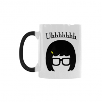 InterestPrint Tina Belcher Uh Mya Quotes 11oz Color Changing Heat Sensitive Morphing Coffee Mug Tea Cup Travel - Funny Unique Birthday Gift for Men Women Mom Dad Husband Wife Boy Girl Friends Him Her