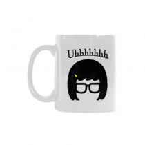 InterestPrint Tina Belcher Uh Mya Quotes 11 Ounce Ceramic Travel Water Coffee Mug Tea Cup with Sayings - Funny Unique Birthday Gift for Men Women Mom Dad Husband Wife Boy Girl Friends Him Her