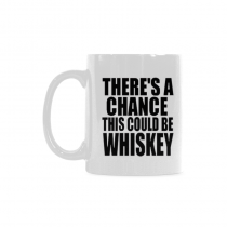 InterestPrint Kitchen & Dining Funny Quote Ceramic Coffee Mug Cup-White-11 oz-There's A Chance This Could Be Whiskey