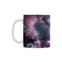 InterestPrint Kitchen & Dining Cosmic Galaxy Starry Sky Ceramic Coffee Mug Cup-White-11 oz-Cosmic Landscape Space Galaxy Colorful Starry Sky Night