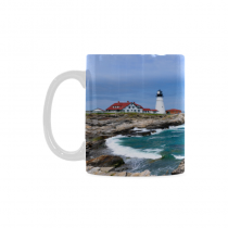 InterestPrint Kitchen & Dining Landscape Sea Lighthouse Ceramic Coffee Mug Cup-White-11 oz-Seascape Sea Ocean Scenery Lighthouse