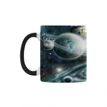 InterestPrint Kitchen & Dining Galaxy Space Planet Morphing Mug Heat Sensitive Color Changing Mug Ceramic Coffee Mug Cup-White-11 oz-Galaxy Space Planet Solar System Starry Night Sky