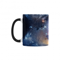 InterestPrint Kitchen & Dining Scenery Space Nebula Morphing Mug Heat Sensitive Color Changing Mug Ceramic Coffee Mug Cup-White-11 oz-Cosmic Scenery Space Nebula Galaxy Colorful Starry Sky Night