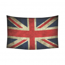 InterestPrint British Flag Wall Art Home Decor, Vintage Flag of United Kingdom Cotton Linen Tapestry Wall Hanging Art Sets