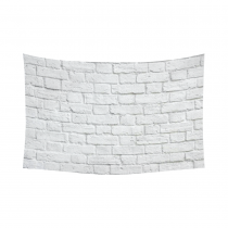 InterestPrint Home Decor, White Brick Wall Cotton Linen Tapestry Wall Hanging Art Sets