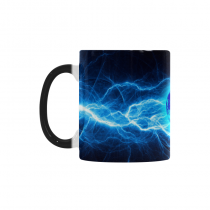 InterestPrint Kitchen & Dining Space the Earth Morphing Mug Heat Sensitive Color Changing Mug Ceramic Coffee Mug Cup-White-11 oz-Abstract the Earth Art Lightining Ball Ice Fire Cold Hot Blue Red Color