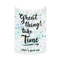 Interestprint Don't Give Up Inspirational Quotes Tapestry Wall Hanging Splatter Pattern Wall Decor Art for Living Room Bedroom Dorm Cotton Linen Decoration