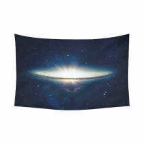 Interestprint Glitter Nebula Cloud Galaxy Tapestry Wall Hanging Outer Space Wall Decor Art for Living Room Bedroom Dorm Cotton Linen Decoration