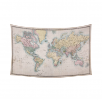 InterestPrint Ancient Global Map Decor, Educational World Map Geologist Gifts Cotton Linen Tapestry Wall Hanging Art Sets
