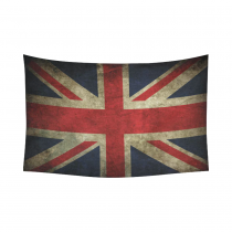 InterestPrint Vintage Retro Flag Wall Art Home Decor, British National Symbol Union Jack Flag Cotton Linen Tapestry Wall Hanging Art Sets