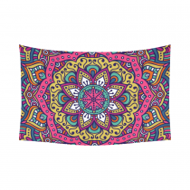 Interestprint Indian Tribal Hippie Hippy Buddhist Lotus Flower Mandala Tapestry Wall Hanging Blacklight Trippy Bohemian Boho Batik Henna Wall Decor Art Cotton Linen for Home Decoration
