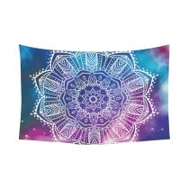 Interestprint Indian Tribal Hippie Purple Blue Galaxy Universe Cosmos Nebula Mandala Tapestry Wall Hanging Blacklight Trippy Bohemian Boho Wall Decor Art Cotton Linen for Home Decoration