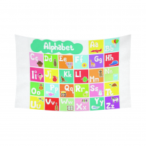 InterestPrint Educational Wall Art Home Decor, ABC Alphabet Fun Learning Chart Cotton Linen Tapestry Wall Hanging Art Sets