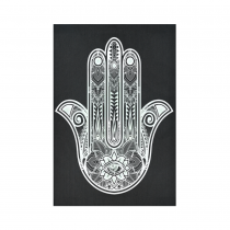 Interestprint Black and White Floral Hamsa Hand Tapestry Wall Hanging Indian Hippie Wall Decor Art for Living Room Bedroom Dorm Cotton Linen Decoration