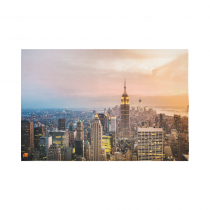 Interestprint NYC New York Skyline Tapestry Wall Hanging Empire State Building Sunset Wall Decor Art for Living Room Bedroom Dorm Cotton Linen Decoration