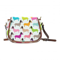 InterestPrint Dachshund Dog Messenger Crossbody Shoulder Travel Saddle Bag Purse