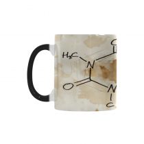 InterestPrint Custom Mixed Media Artwork Caffeine Chemistry Molecule 11oz Heat Sensitive Color Changing Morphing Coffee Mug Tea Cup Travel, Funny Unique Birthday Halloween Gift for Men Women Her