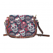 InterestPrint Floral Sugar Skulls Messenger Crossbody Travel Saddle Shoulder Bag Purse