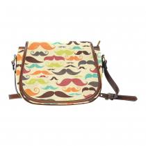 InterestPrint Vintage Mustache Messenger Crossbody Shoulder Saddle Bag Purse