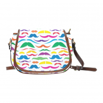 InterestPrint Colorful Mustache Messenger Crossbody Shoulder Saddle Bag Purse