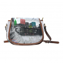 InterestPrint New York Statue of Liberty Messenger Crossbody Travel Saddle Bag Purse