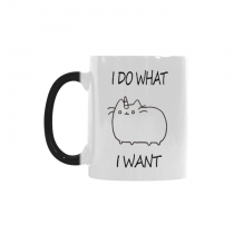 InterestPrint 11oz I Do What I Want Cat Unicorn Morphing Mug Heat Sensitive Color Changing Coffee Mug Cup with Quotes, Unique Funny Birthday Christmas Gifts for Men Women Him Her Mom Dad