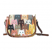 InterestPrint Cartoon Cat Messenger Crossbody Travel Shoulder Saddle Bag Purse