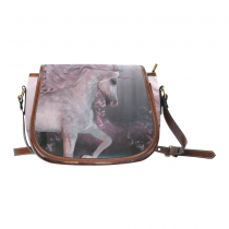 InterestPrint Pink Cherry Blossom Unicorn Messenger Crossbody Saddle Bag Purse