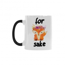 InterestPrint 11oz Oh For Fox Sake Travel Morphing Mug Heat Sensitive Color Changing Coffee Mug Cup with Quotes, Unique Funny Birthday Christmas Gifts for Men Women Him Her Mom Dad