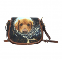 InterestPrint Yellow Dachshund Dog Waterproof Fabric Messenger Saddle Bag Purse