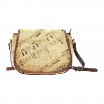 InterestPrint Vintage Music Notes Women Waterproof Fabric Messenger Saddle Bag Purse