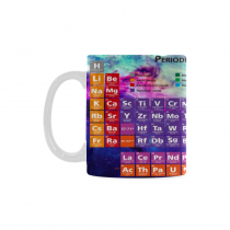 InterestPrint 11 Ounce White Ceramic Outer Space Galaxy with Periodic Table of Elements Funny Travel Coffee Mug Cup with Quotes Sayings, Unique Christmas Birthday Gifts for Men Women Mom Dad Him Her