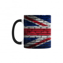 InterestPrint 11oz Brick Wall UK British Flag Union Jack Morphing Mug Heat Sensitive Color Changing Coffee Mug Cup with Quotes, Unique Funny Birthday Christmas Gifts for Men Women Him Her Mom Dad