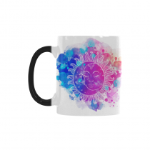 InterestPrint Watercolor Sun and Moon Stars Morphing Mug Heat Sensitive Color Changing Coffee Mug Cup with Quotes, Unique Funny Birthday Christmas Gifts for Men Women Him Her Mom Dad