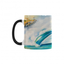 InterestPrint Great Ocean Wave Seascape Sea Morphing Mug Heat Sensitive Color Changing Coffee Mug Cup with Quotes, Unique Funny Birthday Christmas Gifts for Men Women Him Her Mom Dad