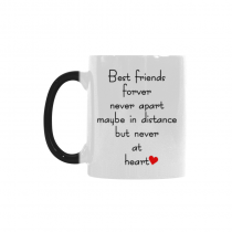 InterestPrint Best Friends Long Distance Morphing Mug Heat Sensitive Color Changing Coffee Mug Cup with Quotes, Best Friends Forver Never Apart Coffee Mug Christmas Gifts