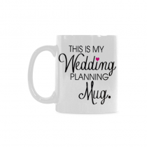 InterestPrint 11 Ounce This Is My Wedding Planning Mug Gifts Engagement Mug Cup for Couples Bride Groom White Ceramic Morning Coffee Milk Tea Drinking Glasses Funny Mugs